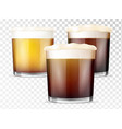 realistic style glasses beer vector image