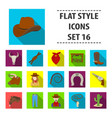 rodeo set icons in flat style big collection of vector image vector image