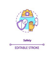 safety concept icon vector image