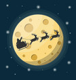 santa claus on sleigh full gifts and reindeers vector image
