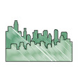 scribble city view vector image