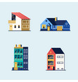 set houses suburban house town house and vector image