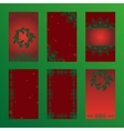 Set of christmas brochures six design card vector image vector image