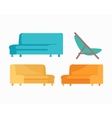 Set of Luxury Sofas and Armchair For Modern Room vector image
