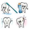 set of teeth vector image vector image