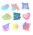 set various colorful shapes abstract vector image vector image