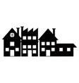 silhouette houses bulding city neighborhood vector image vector image