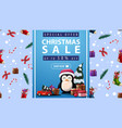 special offer christmas sale up to 50 off vector image