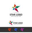 star logo concept vector image vector image