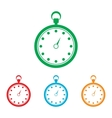 Stopwatch sign Colorfull set vector image vector image