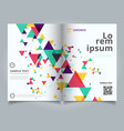 template layout brochure abstract colorful and vector image