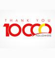 thank you 10000 followers logo concept vector image vector image