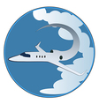 The emblem of the plane vector image vector image