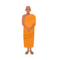 tibetan buddhist monk dressed in traditional vector image