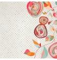 Vintage Floral Copy Space Background vector image vector image