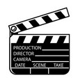 vintage monochrome movie clapperboard concept vector image