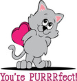 Youre Purrrfect vector image vector image