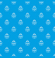 zombie attack pattern seamless blue vector image vector image