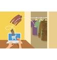 Online shopping men clothes concept vector image