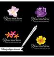 Set of symbols for logo designing vector image
