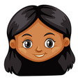 a female head on white background vector image