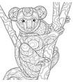 adult coloring bookpage a cute koala bear vector image