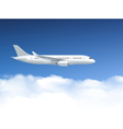 Airplane In Air Poster vector image vector image