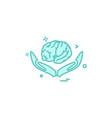 artificial brain hands intelligence icon design vector image