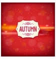 Autumn retro label vector image vector image