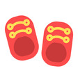 baby shoes flat icon footwear and fashion vector image