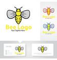 bee logo designs vector image vector image