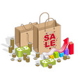 big sale concept retail sellout shopping bag with vector image