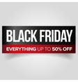 Black Friday web banner vector image vector image