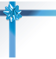 Blue Present and Ribbon Background vector image vector image