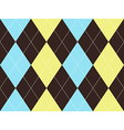 Brown argyle seamless pattern vector image vector image