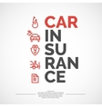 Car insurance poster vector image vector image