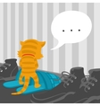Cartoon Cat Footwear Spoils vector image vector image