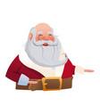 character santa claus christmas image vector image vector image