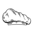 chefs hat in engraving style design element for vector image