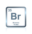 chemical element bromium from the periodic table vector image vector image