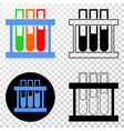 chemical test tubes eps icon with contour vector image