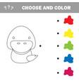 coloring cute cartoon duck educational game vector image vector image