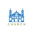 conceptual with colonial building on a religious vector image vector image