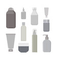 cosmetic bottles set beauty shampoo bottle vector image