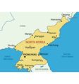 Democratic Peoples Republic of Korea - map vector image vector image