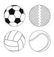 design sport and ball icon set sport vector image vector image