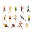 different running athlets sport people runner vector image vector image