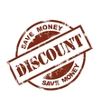 discount stamp vector image vector image