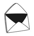 email envelope cartoon vector image