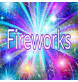 firework holiday background vector image